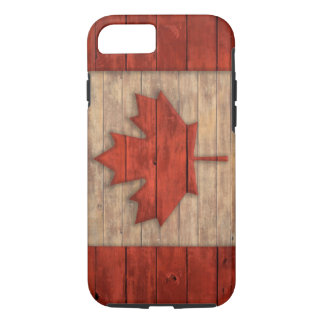 Vintage Flag of Canada Distressed Wood Design iPhone 8/7 Case