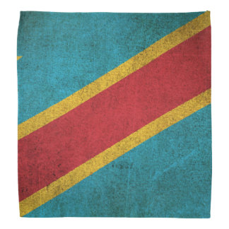 Vintage Flag of Democratic Republic of Congo Head Kerchiefs