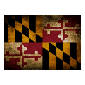 Vintage Flag of Maryland Poster