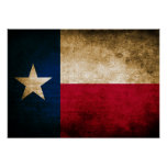 Vintage Flag of Texas Poster