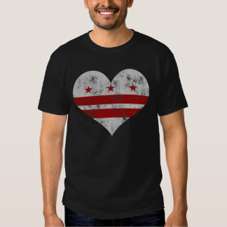 Vintage Flag of Washington D.C. Heart T-shirts