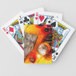 Vintage flame Hot Rod Bicycle Playing Cards