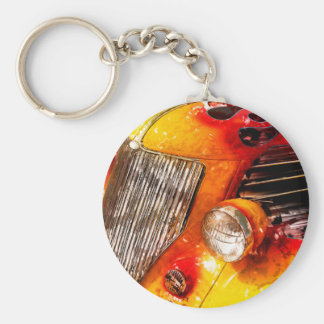 Vintage flame Hot Rod Keychain