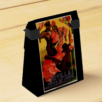 Vintage flamenco dancers Spanish Favour Boxes