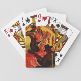 Vintage flamenco dancers Spanish Poker Deck