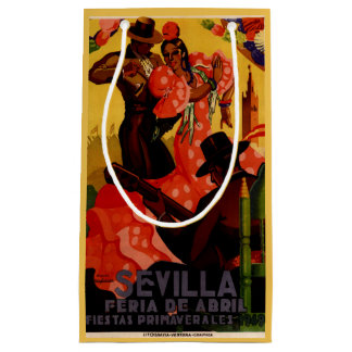 Vintage flamenco dancers Spanish Small Gift Bag