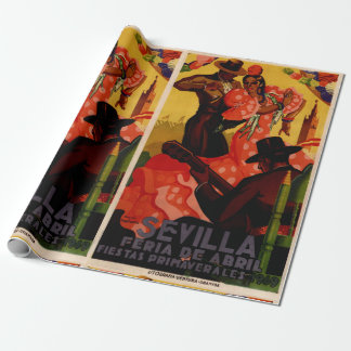Vintage flamenco dancers Spanish Wrapping Paper