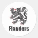 Vintage Flanders Round Sticker