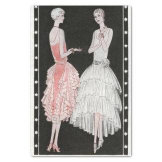 "Vintage Flapper Fashion 10"" X 15"" Tissue Paper"
