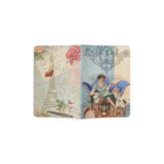 Vintage Flapper Girl in Paris Passport Holder