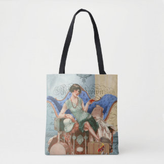 Vintage Flapper Girl in Paris Tote Bag