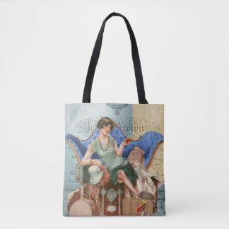 Vintage Flapper Girl in Paris Tote Bag