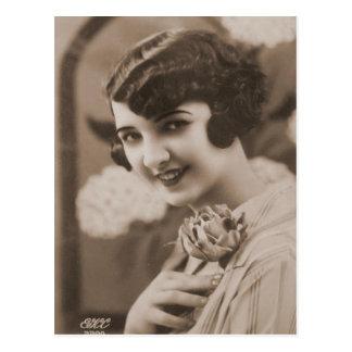 Vintage Flapper Photograph 154 Postcard