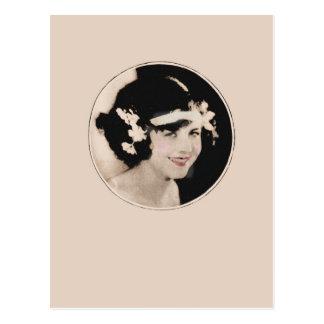 Vintage Flapper Postcard