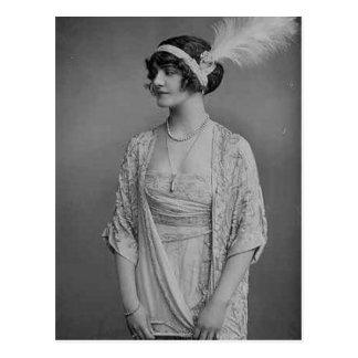 vintage flappers (387) postcard