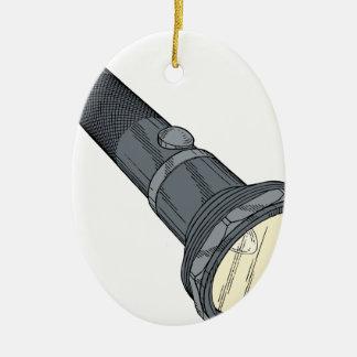Vintage Flashlight Christmas Ornament
