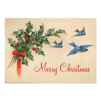 Vintage Flat Christmas Card Announcements