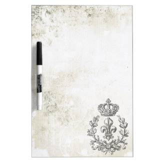 Vintage Fleur de Lis and Crown-Dry erase board