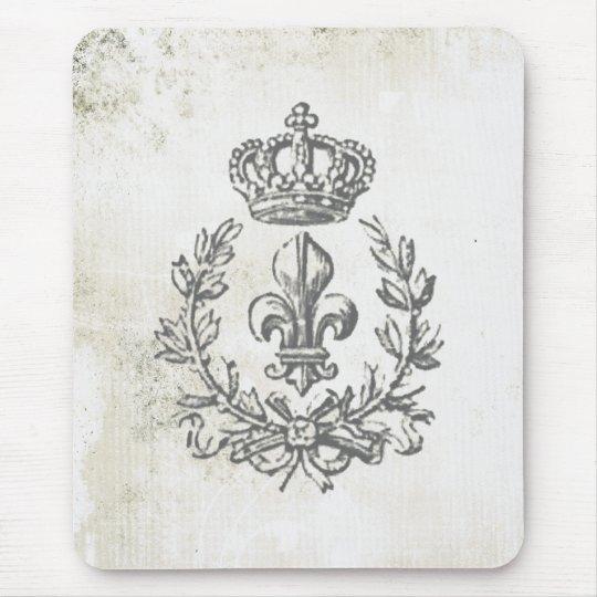 Vintage Fleur de Lis and Crown-mouse pad Mouse Mat