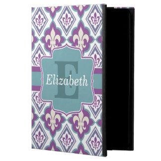 Vintage Fleur de Lis Pattern Name and Monogram Powis iPad Air 2 Case