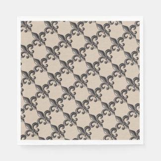 Vintage Fleur de Lis Print Napkins Disposable Serviettes