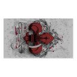 Vintage fleur-de-lis red metal grunge effects pack of standard business cards