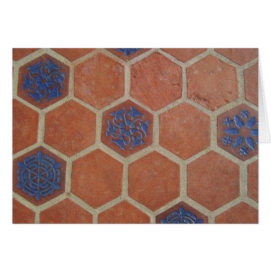 Vintage Floor Tile Card