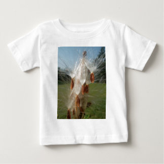 Vintage Flora and Fauna Milkweeds Floating.jpg Baby T-Shirt