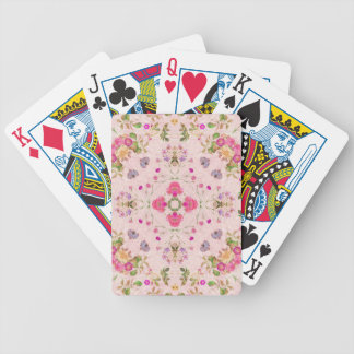 Vintage Floral Abstract Bicycle Playing Cards