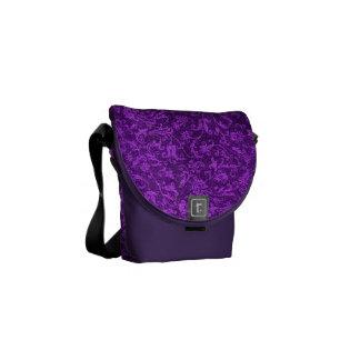 Vintage Floral Amethyst Purple Grape Flowers Messenger Bag