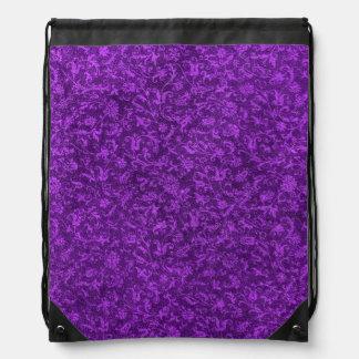 Vintage Floral Amethyst Purple Grape Flowers Cinch Bags