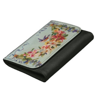 Vintage Floral and Bird Leather Wallets
