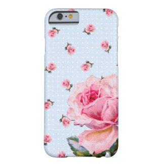 Vintage Floral and Dots Barely There iPhone 6 Case