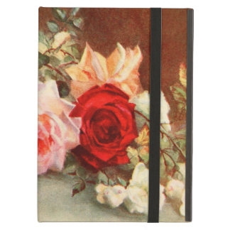 Vintage Floral Antique Rose Flowers Still Life Art Cover For iPad Air