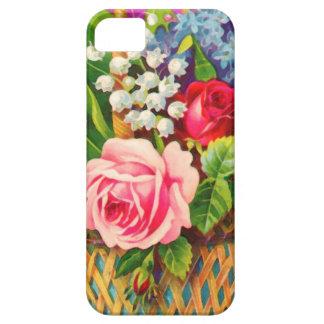 Vintage Floral Basket Watercolor iPhone 5 Cases