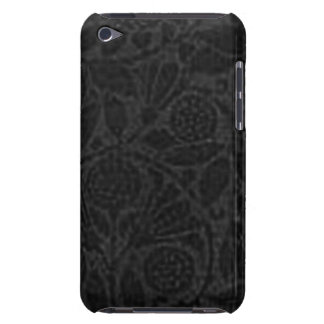 Vintage Floral Black Flowers Leaves Barely There iPod Cases