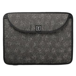 Vintage Floral Black Macbook Pro Flap Sleeve MacBook Pro Sleeves
