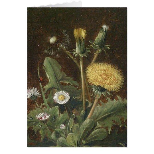 Vintage floral blank Note Cards