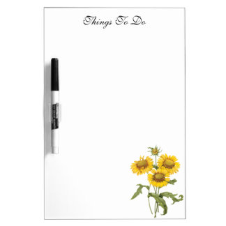 Vintage Floral Blanket Flower Sunflower by Redoute Dry-Erase Whiteboard
