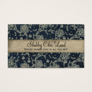 Vintage Floral Blue Shabby Chic Business Card