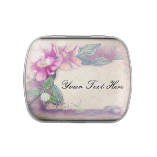 Vintage Floral Border Jelly Belly Tins