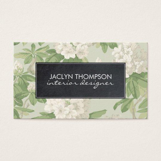 vintage floral botanical business card