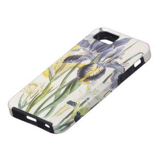Vintage Floral Botany, Garden Iris Flowers iPhone 5 Case