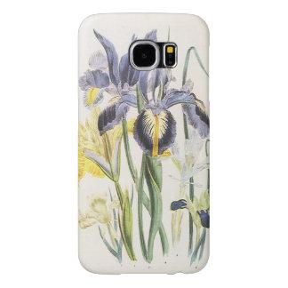 Vintage Floral Botany, Garden Iris Flowers Samsung Galaxy S6 Cases