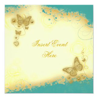 Vintage floral butterfly elegant wedding personalized invitation