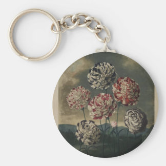 Vintage Floral Carnation Painting Key Chain