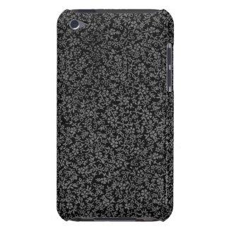 Vintage Floral Charcoal Black iPod Case-Mate Case