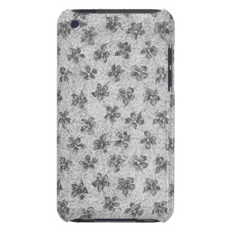 Vintage Floral Charcoal Gray iPod Touch Cover