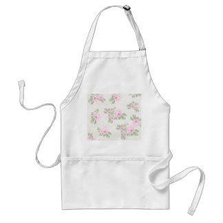 Vintage floral chic pink roses standard apron