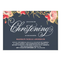 Vintage Floral | Christening Invitation